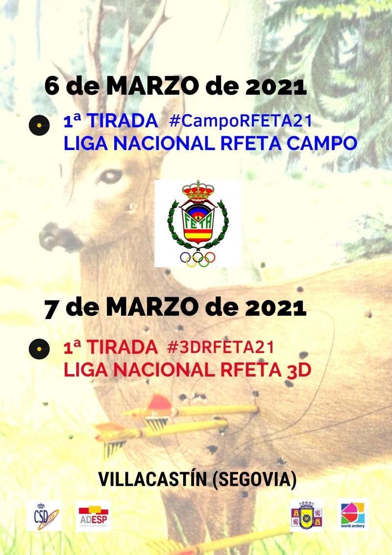 1ª TIRADA LIGA NACIONAL RFETA DE 3D- VILLACASTÍN 2021 - Inscríbete