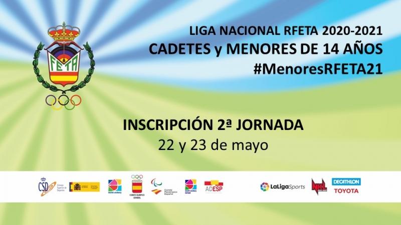 2ª JORNADA LIGA NACIONAL RFETA CADETES Y MENORES DE 14 AÑOS 2020-2021 - Inscríbete