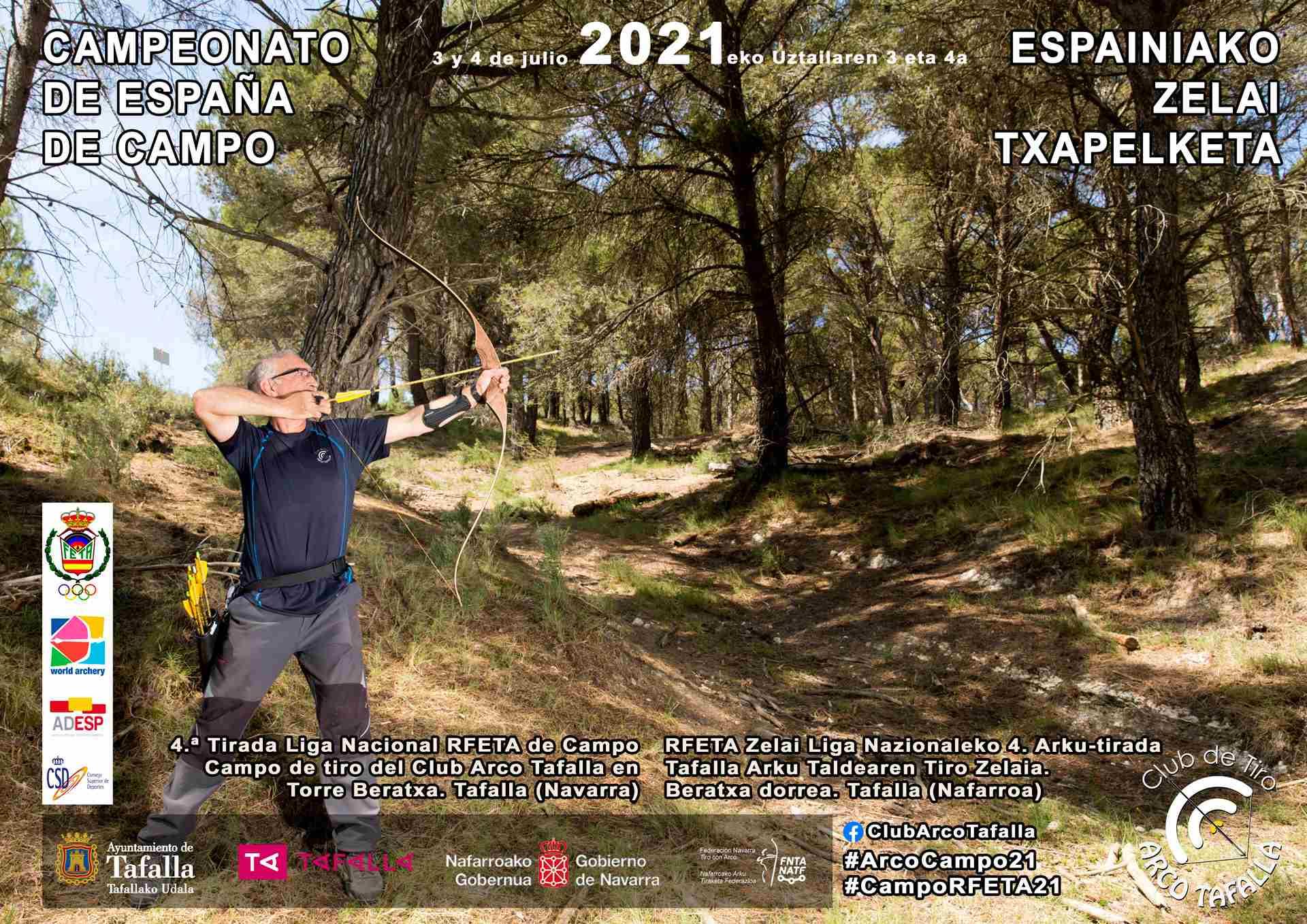 CAMPEONATO DE ESPAÑA / 4ª TIRADA LIGA NACIONAL RFETA DE CAMPO - TAFALLA  2021 - Inscríbete